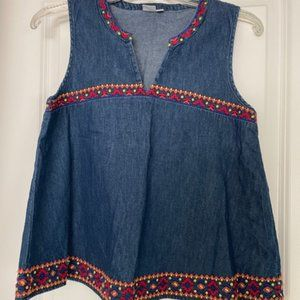 GAP Tank Top with Embroidered Detail
